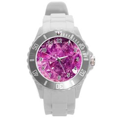 Amethyst Stone Of Healing Plastic Sport Watch (large) by FunWithFibro