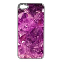Amethyst Stone Of Healing Apple Iphone 5 Case (silver) by FunWithFibro