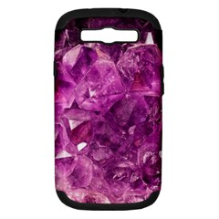 Amethyst Stone Of Healing Samsung Galaxy S Iii Hardshell Case (pc+silicone) by FunWithFibro