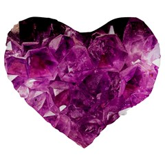 Amethyst Stone Of Healing 19  Premium Heart Shape Cushion by FunWithFibro