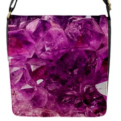 Amethyst Stone Of Healing Flap Closure Messenger Bag (small) by FunWithFibro