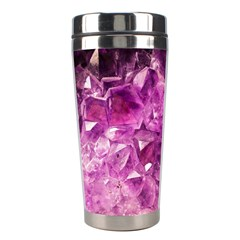 Amethyst Stone Of Healing Stainless Steel Travel Tumbler by FunWithFibro