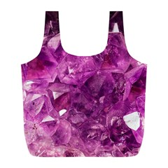 Amethyst Stone Of Healing Reusable Bag (l) by FunWithFibro
