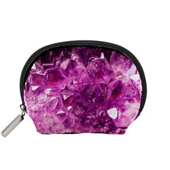 Amethyst Stone Of Healing Accessory Pouch (small) by FunWithFibro