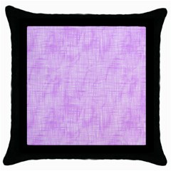 Hidden Pain In Purple Black Throw Pillow Case by FunWithFibro