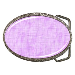 Hidden Pain In Purple Belt Buckle (oval) by FunWithFibro