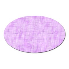 Hidden Pain In Purple Magnet (oval) by FunWithFibro