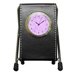 Hidden Pain In Purple Stationery Holder Clock by FunWithFibro