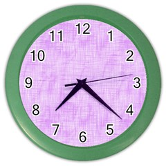 Hidden Pain In Purple Wall Clock (color) by FunWithFibro