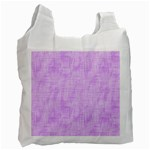 Hidden Pain In Purple White Reusable Bag (One Side) Front