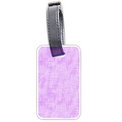 Hidden Pain In Purple Luggage Tag (one Side) by FunWithFibro