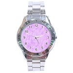 Hidden Pain In Purple Stainless Steel Watch Front