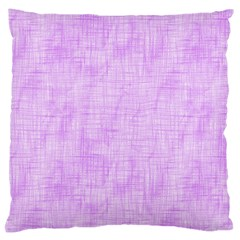 Hidden Pain In Purple Large Cushion Case (single Sided)  by FunWithFibro