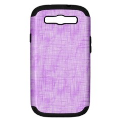 Hidden Pain In Purple Samsung Galaxy S Iii Hardshell Case (pc+silicone) by FunWithFibro