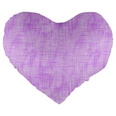 Hidden Pain In Purple 19  Premium Heart Shape Cushion by FunWithFibro