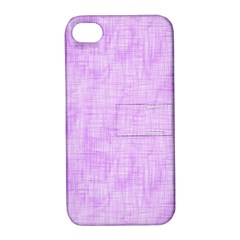 Hidden Pain In Purple Apple Iphone 4/4s Hardshell Case With Stand by FunWithFibro
