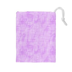Hidden Pain In Purple Drawstring Pouch (large) by FunWithFibro