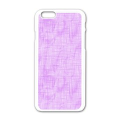Hidden Pain In Purple Apple Iphone 6 White Enamel Case by FunWithFibro