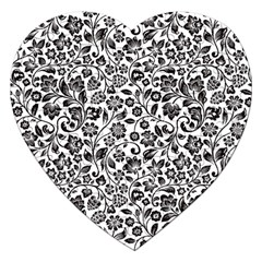 Elegant Glittery Floral Jigsaw Puzzle (heart) by StuffOrSomething