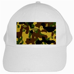 Camo Pattern  White Baseball Cap