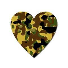 Camo Pattern  Magnet (heart) by Colorfulart23