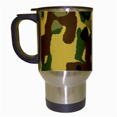 Camo Pattern  Travel Mug (white) by Colorfulart23