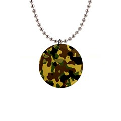 Camo Pattern  Button Necklace