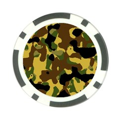 Camo Pattern  Poker Chip