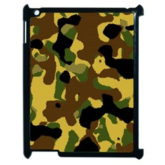 Camo Pattern  Apple Ipad 2 Case (black) by Colorfulart23