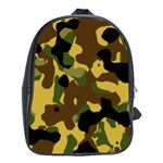 Camo Pattern  School Bag (XL) Front