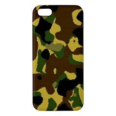 Camo Pattern  Iphone 5s Premium Hardshell Case by Colorfulart23