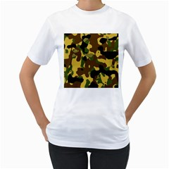 Camo Pattern  Women s T Shirt (white)