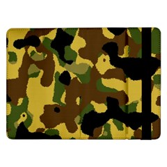 Camo Pattern  Samsung Galaxy Tab Pro 12 2  Flip Case by Colorfulart23