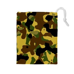 Camo Pattern  Drawstring Pouch (large) by Colorfulart23