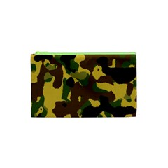 Camo Pattern  Cosmetic Bag (xs) by Colorfulart23