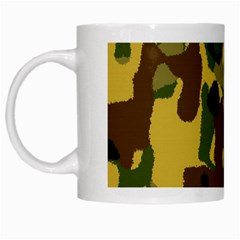 Camo Pattern  White Coffee Mug