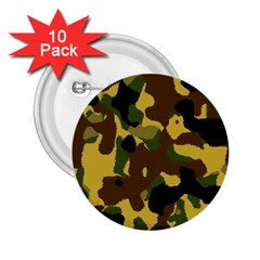 Camo Pattern  2 25  Button (10 Pack) by Colorfulart23