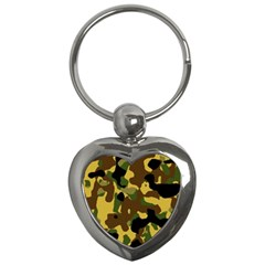 Camo Pattern  Key Chain (heart) by Colorfulart23