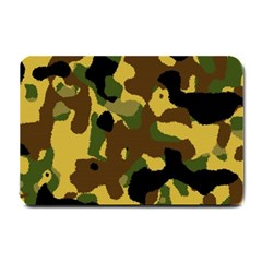 Camo Pattern  Small Door Mat by Colorfulart23