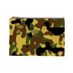 Camo Pattern  Cosmetic Bag (large)