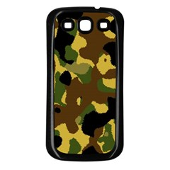 Camo Pattern  Samsung Galaxy S3 Back Case (black) by Colorfulart23