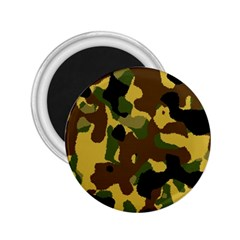 Camo Pattern  2 25  Button Magnet