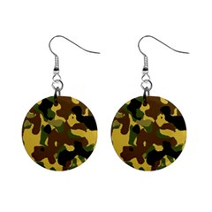 Camo Pattern  Mini Button Earrings by Colorfulart23