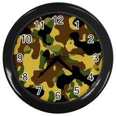 Camo Pattern  Wall Clock (black) by Colorfulart23