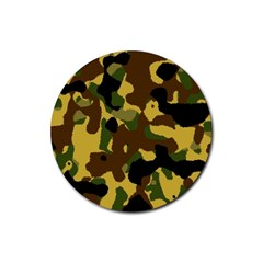 Camo Pattern  Drink Coaster (round) by Colorfulart23
