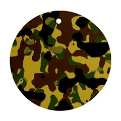 Camo Pattern  Round Ornament (two Sides)