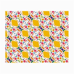 Dots And Rhombus Glasses Cloth (small, Two Sides) by LalyLauraFLM