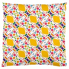 Dots And Rhombus Large Cushion Case (two Sides) by LalyLauraFLM