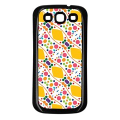 Dots And Rhombus Samsung Galaxy S3 Back Case (black) by LalyLauraFLM