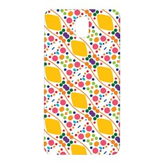 Dots And Rhombus Samsung Galaxy Note 3 N9005 Hardshell Back Case by LalyLauraFLM